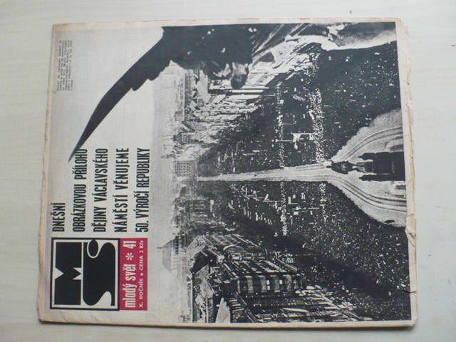 Mladý svět 41 (1968) ročník X.
