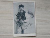 Strakonický dudák Jan Matásek Modlešovice - podpis a věnování 1934