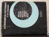 Astronomical dictionary in six Languages (1961) - česky + 5 dalších jazyků