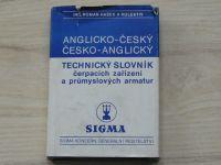 Hašek - Anglicko-český česko-anglický technický slovník čerpacích zařízení a armatur - Sigma 1982