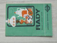 RADY - Chutné a výživné večeře - Radíme ženám - družstevnicím (Jednota 1972)