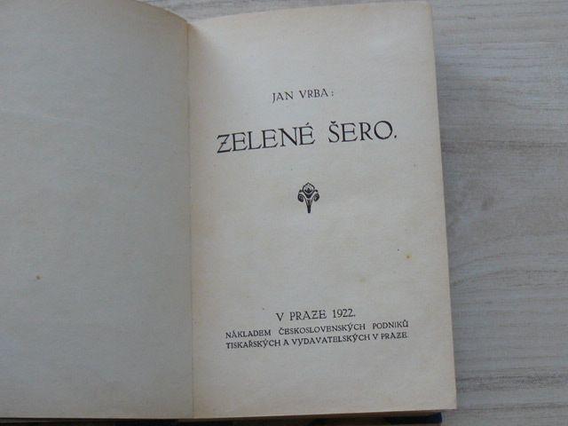 Jan Vrba - Zelené šero (1922)
