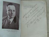 Buchal - Neustupovský - Les a lidé (1936) Sebrané spisy 1, věnování autora