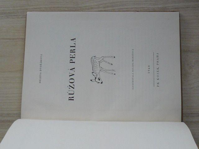 Helena Dvořáková - Růžová perla (1948) il. Milada Marešová