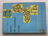 Kamínek, Kamínková - Objekty pro zahradnické exkurse (1963)