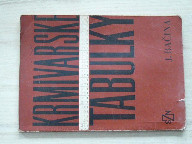 Bačina - Krmivářské tabulky (SZN 1974)