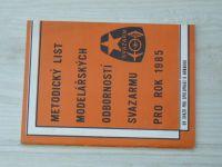 Metodický list modelářských odborností Svazarmu pro rok 1985
