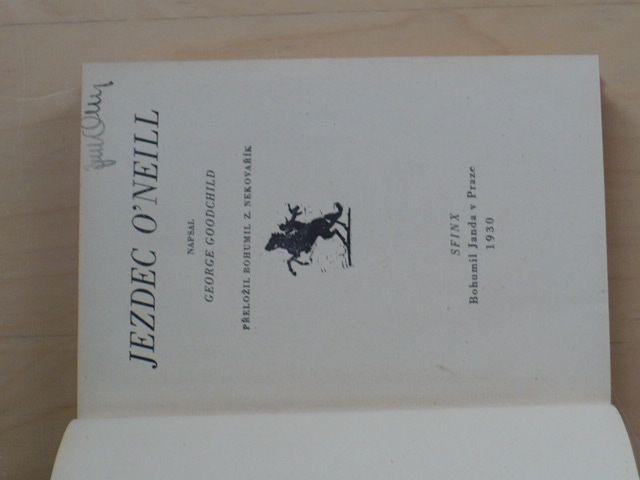 Goodchild - Jezdec O´Neill (Sfinx 1930)