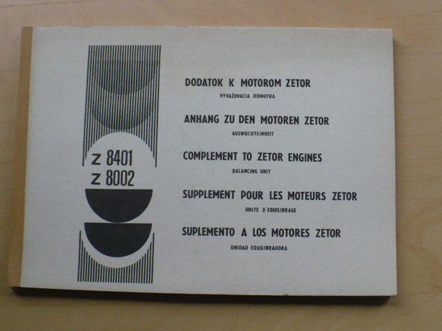 Zetor Z 84014, Z8002 - dodatok k motorom Zetor - vyvyžovacia jednotka0