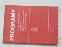 Programy přípravy branců řidičů a programy zdokonalování výcviku vojáků v záloze řidičů (1975)