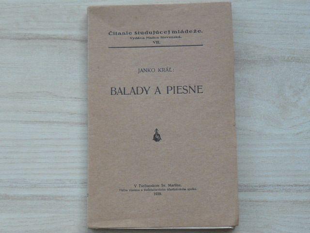 Janko Král - Balady a piesne (1929) slovensky