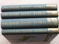 Brehmův život zvířat 1 - 4 (1937-1938) kompletní, Ssavci I.II., Ptáci, Plazi, obojživelnici, ryby
