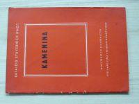 Katalog stavebních hmot - Kamenina kanalisační, hospodářská, chemická (Brno 1957)