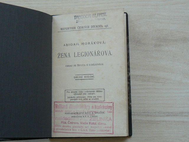 Abigail Horáková - Žena legionářova. Obraz ze života o 3 dějstvích. (1920)