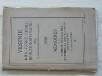 Věstník Královské české společnosti nauk, třída filosoficko-historicko-filologická (1936)
