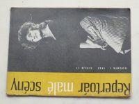 Repertoár malé scény 11 (1963) ročník I.