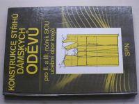 Pluháčková - Konstrukce střihů dámských oděvů pro II. a III. ročník SOU učební obor krejčí (1986)