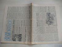 Lidová demokracie 53 (1990) ročník XLVI. + příloha Neděle s LD 11 (1990)
