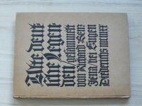 Alte deutsche Legenden. (1909) německy, Staré německé legendy
