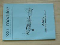 Stavební plány pro modeláře - 100 S - Z 50 L - RC maketa na motor 10 cm3 (2006)