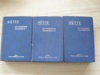 HÜTTE - Des Ingenieurs Taschenbuch I. II. III. (Berlin 1923, 1924) Kapesní kniha inženýra