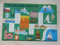 Tschechoslowakei - mapa (Merkur 1973) německy