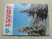 Vysoké Tatry 1-6 (1981) ročník XX. (slovensky)