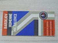 Automapa okolia - 1 : 200 000 - Bardejov, Humenné, Michalovce (1972)