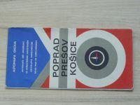 Automapa okolia - 1 : 200 000 - Poprad, Prešov, Košice (1974)