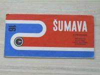 Automapa 16 - 1 : 200 000 - Šumava (1974)
