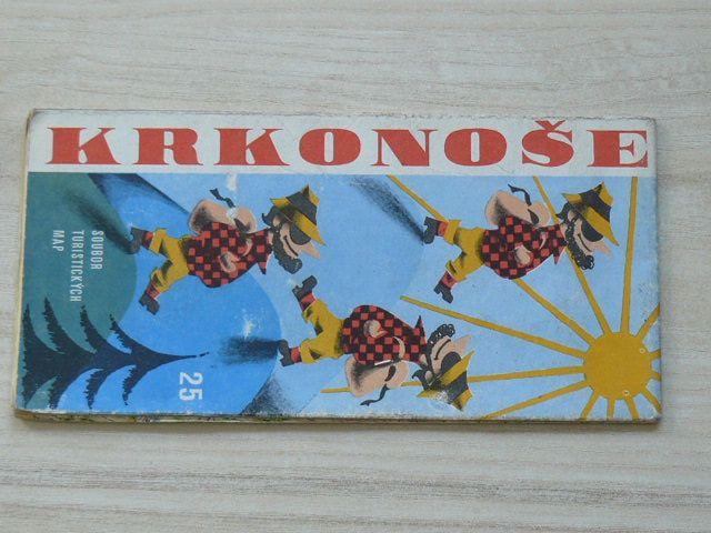 Soubor turistických map 25 - 1 : 50 000 - Krkonoše (1975)