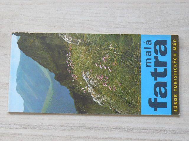 Súbor turistických máp - 1 : 100 000 - Malá Fatra - Letná turistická mapa (1974) slovensky