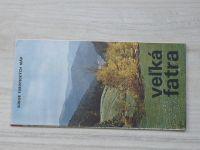 Súbor turistických máp - 1 : 100 000 - Veľká Fatra - Letná turistická mapa (1973) slovensky