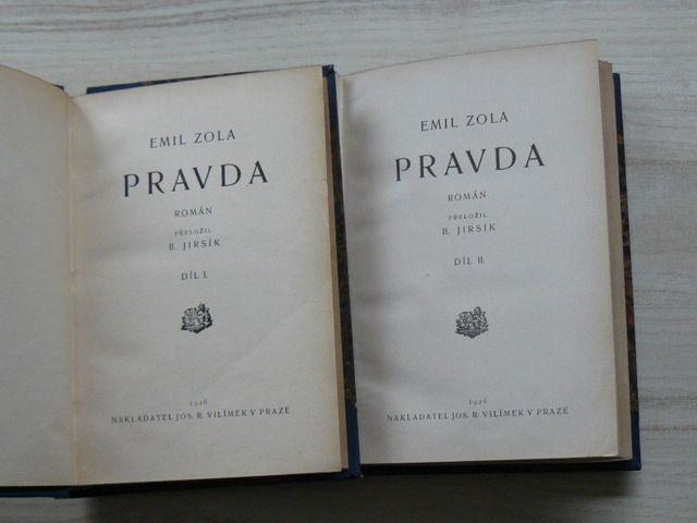 Zola - Pravda I. II. díl (Vilímek 1926)