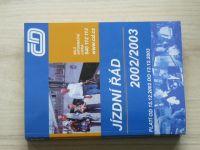 Jízdní řád ČD 2002/2003
