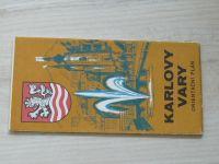Orientační plán - 1 : 10 000 - Karlovy Vary (1974)