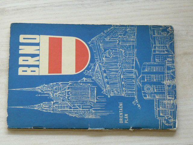 Orientační plán 1 : 15 000 - Brno (1962) mapa + informativní část