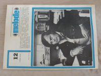 Melodie 1-12 (1980) ročník XVIII. (chybí čísla 6, 9-10, 9 čísel)