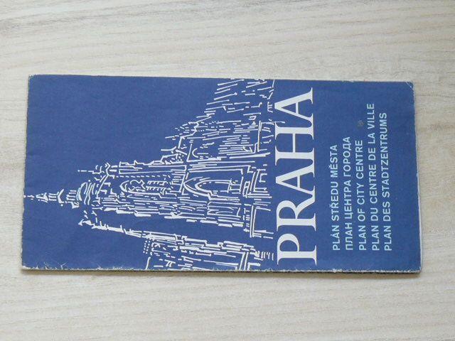 Plán středu města 1 : 15 000 - Praha (1988)