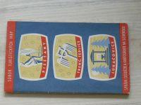 Súbor turistických máp - 1 : 75 000 - Piešťany / Trenčianské Teplice / Luhačovice (1959)