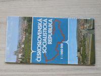 Československá socialistická republika 1 : 1 000 000 (1982) plochojevné kuželové zobrazení