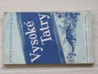 Súbor turistických máp - 1 : 75 000 - Vysoké Tatry (1958)