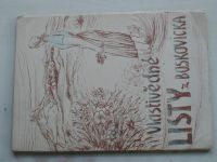 Vlastivědné listy z Boskovicka (1951)