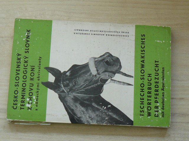 Česko-slovenský terminologický slovních z chovu koní s německými ekvivalenty (1970)