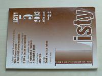 Listy 5 (2003) ročník XXXIII.