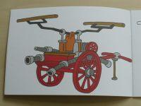 Omalovánky pro malé hasiče a hasičky - Historický vývoj hasících stříkaček (nedatováno)