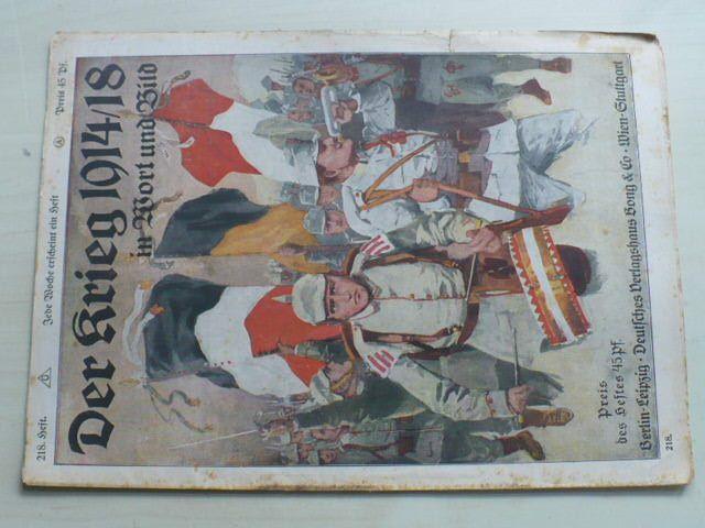 Der Krieg in Wort und Bild 218 (1914-18) německy