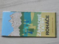 Súbor turistických máp - 1 : 50 000 - Západné Tatry/Roháče - Letná turistická mapa (1976) slovensky
