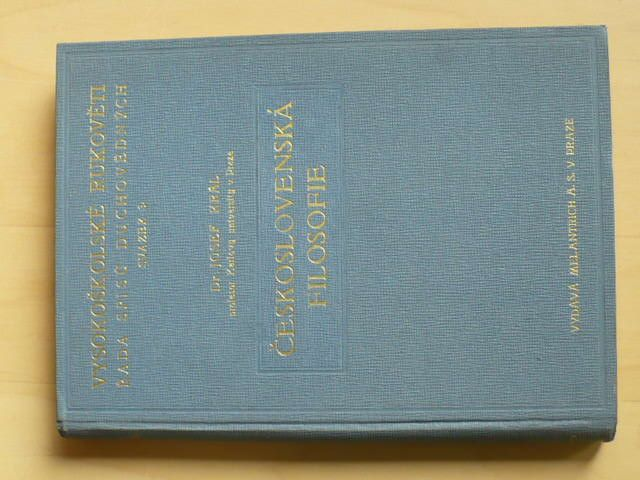 Dr. Král - Československá filosofie - nástin vývoje (1937)