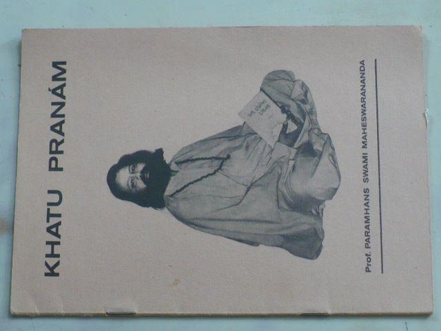 Pilařová - Khatu Pranám (1989) Metodický list č. 2 podle systému Jóga v denním životě